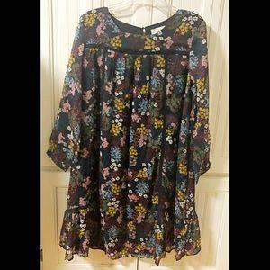 NWT Loft Dress beautiful colors 💗